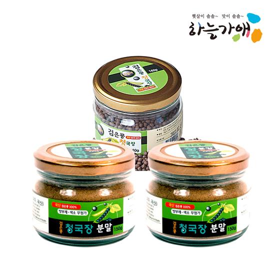 [하늘가애] 안전한 먹거리 전문 함양농협 청국장세트 분말150g*2환180g*1