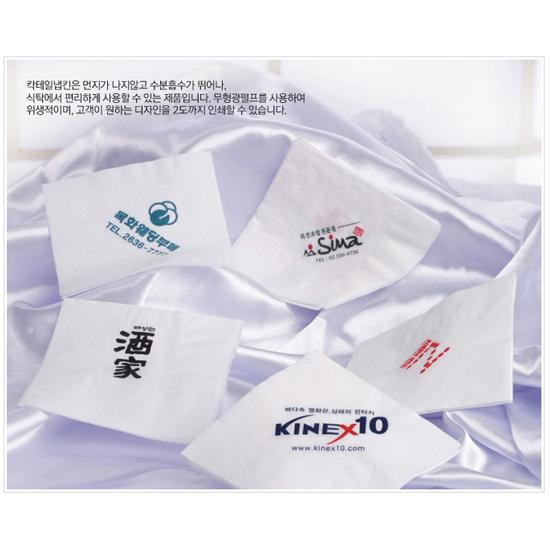 [서부산업] 칵테일 냅킨(인쇄) 1겹 7,600장 / 백색/3박스